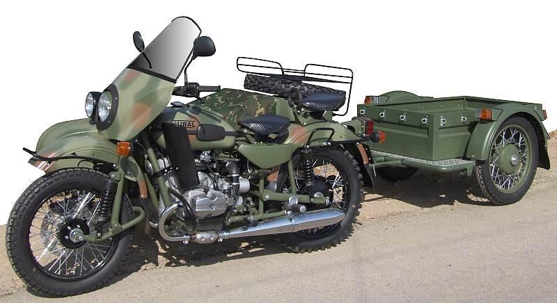 MOTOS ET 4X4 DE l'armée Ranger-remorque